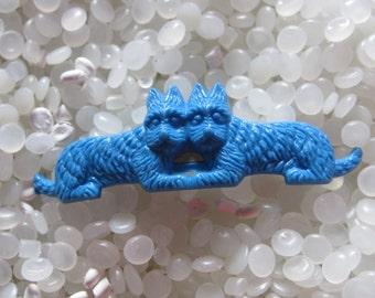 vintage barrette little blue Scottie dogs