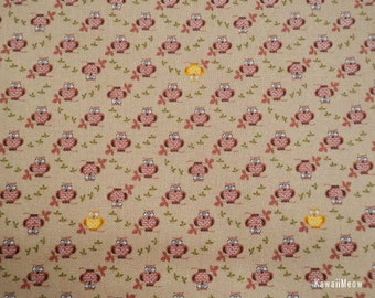 SALE - Cute Owl Brown - Half Yard (ma0613)