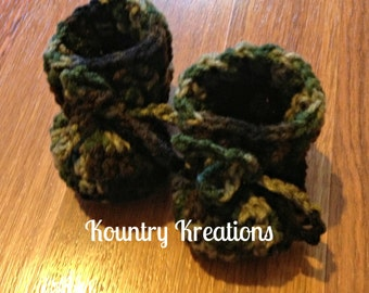 CAMO Booties/My Little HUNTERS CAMO Booties (Ready to Ship)