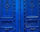 Monaco Blue Doors in Paris - Blue Doors on the streets of Paris - French Home Decor - Paris Photography - Door photography, paris wall art