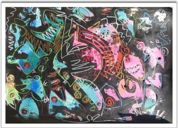 Articles similaires peinture graphique poisson bastract for Peinture graphique