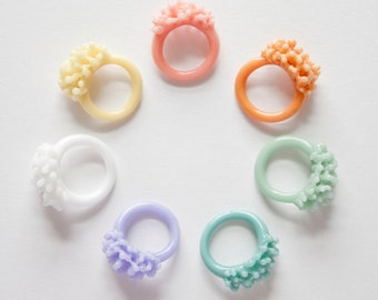 Glass Cluster Ring - Opaque Pastels