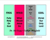 Set of 4 Printable Christian Acronym Bookmarks in Digital File