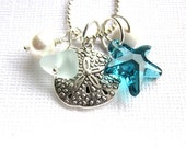 Sea Glass Necklace: Summer Beach Love