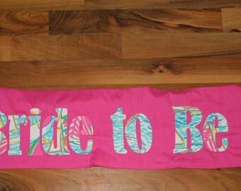 Bachelorette or Birthday Sash made with Lilly Pulitzer Ugotta Regatta fabric