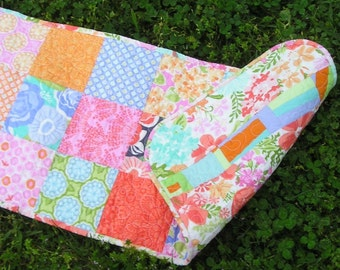 Modern Table Runner -- Quilted Patchwork w/ Reversible Sides -- Perfect for All Seasons