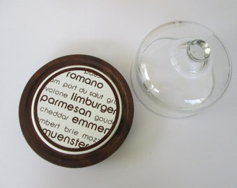 Domed Glass Cheese Tray