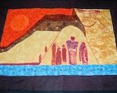 Handcrafted Original Wall Art Quilt Spirit of the Anasazi Fiber art
