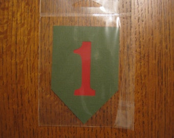 Big Red One, 1st Infantry Division Scrapbook Page Title or Die Cut