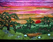 Art Quilt Sunset Landscape