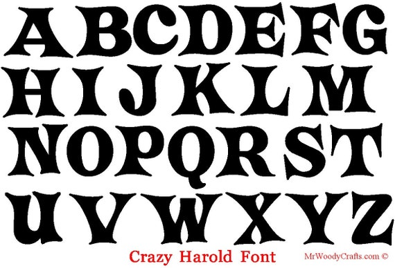 12 Unfinished Wooden Letters 5 different fonts