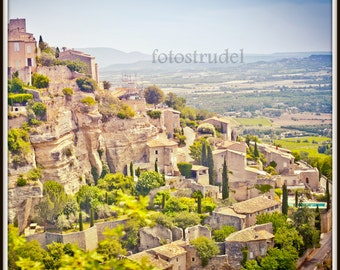 Gordes, Southern France - Provence Photograph. Cliffhanger. 8x8