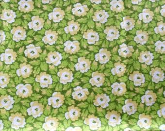 DESTASH - Green Floral, Fat Quarter Fabric
