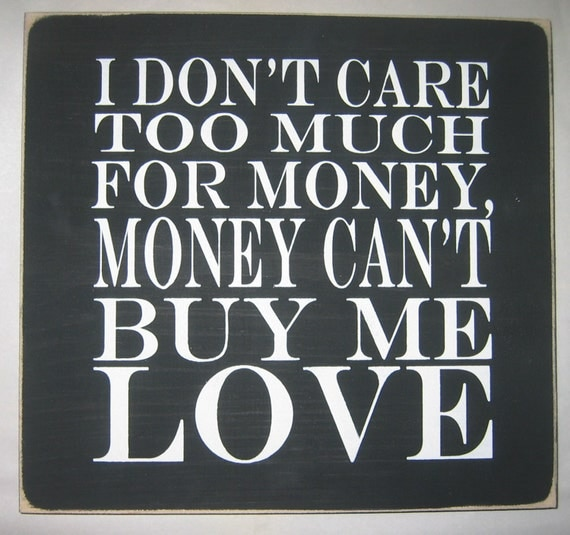 Can T Buy Me Love Quotes: Unavailable Listing On Etsy