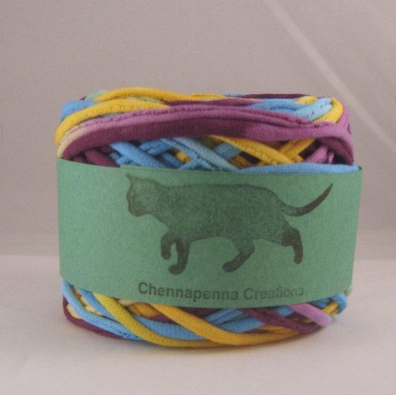 T shirt yarn hand dyed spring aqua purple yellow 60 yards for T shirt printing st charles mo