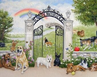 11x14 The Rainbow Bridge Fine Art Giclee Print by LARA