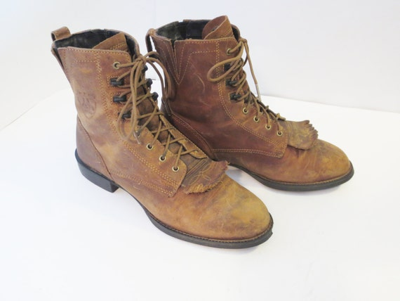 50buckSALE Ariat Brown Leather Lace Up Hiking Work Boots