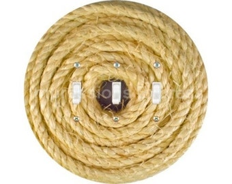 Nautical Sisal Rope Triple Toggle Switch Plate Cover