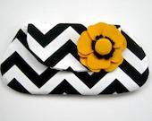 Black and White Chevron Clutch Bag - Womans Spring Fashion