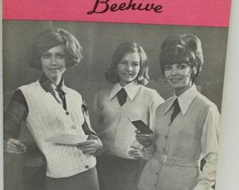 Vintage Patons women knitting patterns,Sleeveless vest knitting patterns,Patons no 2075 women adults size 12 to 18,women knitting patterns