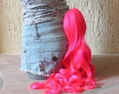 Pinkie Pie pony tail - pink clip on costume cosplay - my little pony costume - friendship is magic - My Little Pony costume