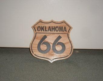 Route 66 plaque Oklahoma