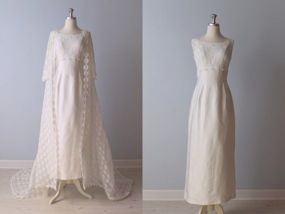 sale vintage 1960s wedding dress 60s bridal gown lace