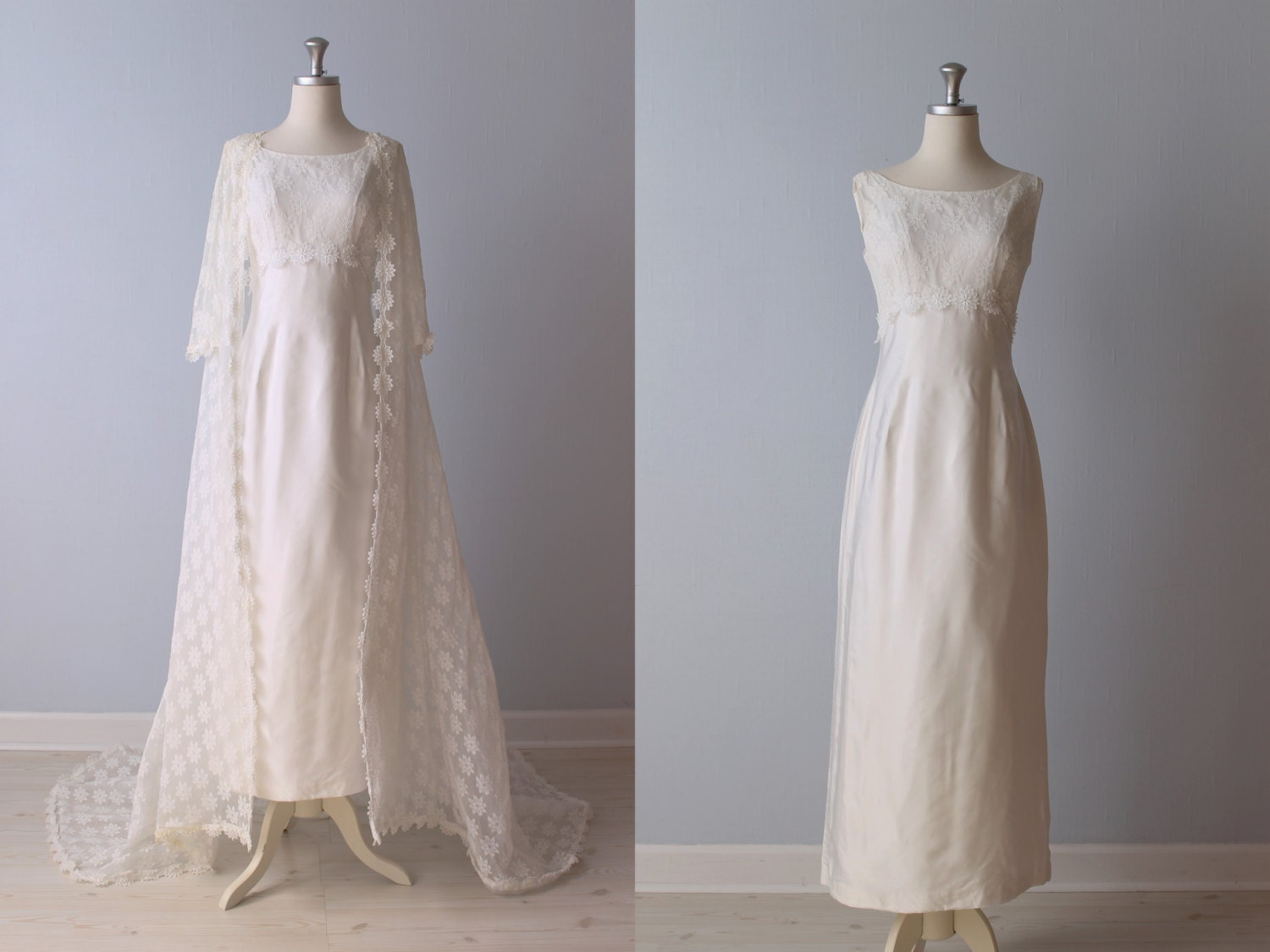 Sale vintage 1960s wedding dress 60s bridal gown lace for 1960 style wedding dresses