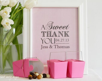 Reception Print - A Sweet Thank You  //  Candy Buffet Sign