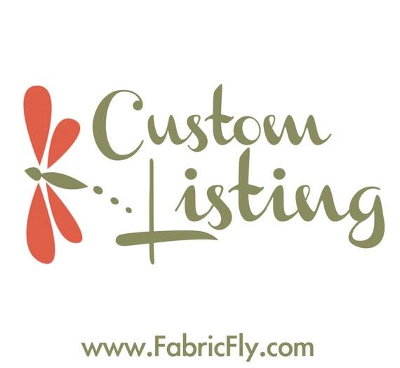 Custom Listing for  bananashana