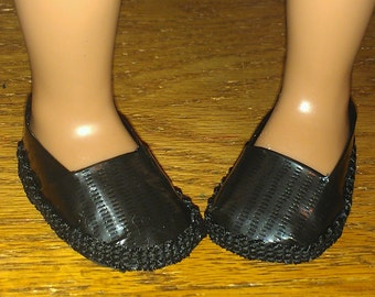 Black Duct Tape Doll Shoes