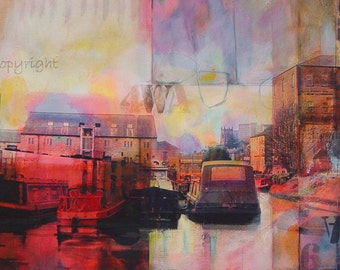 Canal Basin, Sowerby Bridge. ( Limited Edition Archival Print Size 2 )
