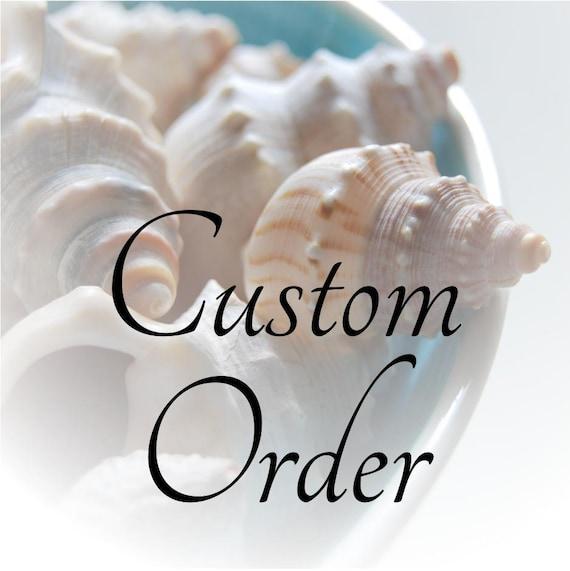 custom order for the Brides Hope Chest: Etsy Banner set beach shells