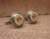 Bullet Casing Jewelry - 44 Magnum Bullet Casing Cuff Links - Great Gift for Guy, Bosses Day, Wedding Party