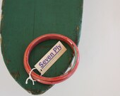 Recycled Skateboard Smooth Rail Bangle-Ruby Red