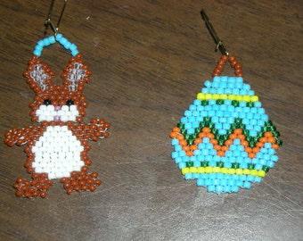Beaded Easter Earrings