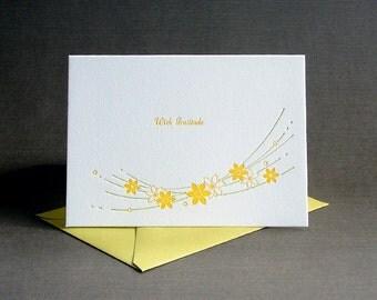 Daffodils Letterpress Card