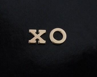 Letter Earrings in 14kt Gold - Initial Earrings