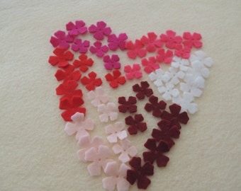 48- Die cut Felt Lilac Flowers,  Valentines