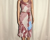 Vintage South African Delswa graphic dress