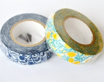 mt washi masking tape - original - mikan - tangerine set of 2 - limited edition