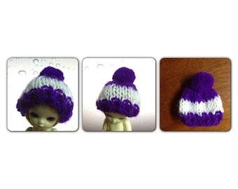 A137 - Felix brownie / Pukipuki  / lati white knitted hat