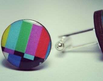 Television Test Pattern Cufflinks