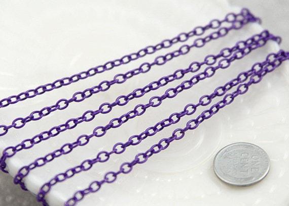 5mm Purple Enamel Chain - 10 feet / 3 meters