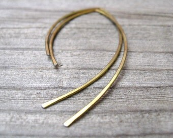 yellow gold niobium jewelry. gold earrings. hypoallergenic jewellery.