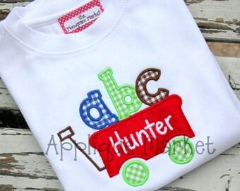 Machine Embroidery Design Applique ABC Wagon INSTANT DOWNLOAD