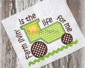 Machine Embroidery Design Applique Tractor Farm Livin INSTANT DOWNLOAD