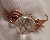 Wire Wrap Copper Napkin Rings Table Setting Ideas - Serendipitini