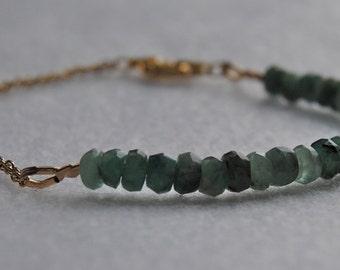 Emerald and Gold Bracelet