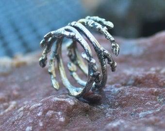 Elfin Sterling Silver Branch Ring